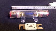 Sicherungshalter 53 mm² Kabel + Sicherung Car Hifi KFZ Glas Gold Auto High-End!
