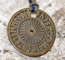 Amulett Messing FUTHARK Talisman