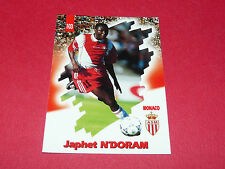 PANINI FOOTBALL CARD 98 1997-1998 JAPHET N'DORAM AS MONACO LOUIS II ASM