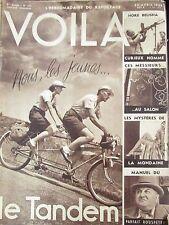 REPORTAGES PHOTOS VOILA 1938 VELO TANDEM POLICE MONDAINE FAUST HORE BELISHA