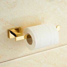 Home Wall Mounted Gold Finish Toilet Roll Holder Stainless steel Paper Bracket