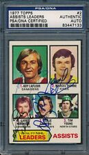 1977/78 Topps #2 Assists Leaders PSA/DNA Certified Authentic Auto *7133