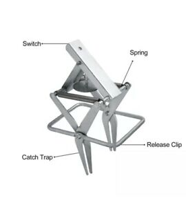 Galvanized Steel Sturdy Large-Sized Mole and Gopher Scissor-jaw Trap for Harmful