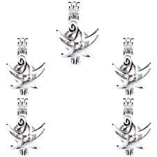 5PCS-L58 Beads Cage Diffuser Star Charm Locket Light Silver