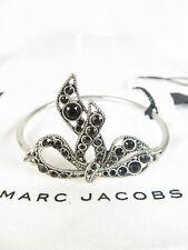 NEW Marc Jacobs - Bow Hinge Bracelet (Jet/Antique Silver) Bracelet $125