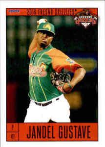 2016 Fresno Grizzlies Choice #7 Jandel Gustave Dominican Republic Baseball Card