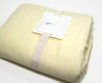 Pottery Barn Kids Linen Cotton Ivory Full Queen Duvet Cover New