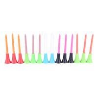 50 Pcs Multi Color Plastic Golf Tees 72mm Durable Rubber Cushion Top Golf Tee HU