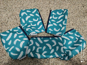 Lot of 5 x Clinique Cosmetic Makeup Bag Zipper Pouch Medium size