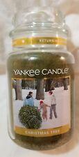 Yankee Candle CHRISTMAS TREE Classic Large Jar 22 Oz New Housewarmer Green Xmas
