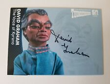 Unstoppable Cards Thunderbirds 50th Anniversary David Graham Autograph Card