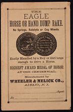 Original 1800s Eagle Horse or Hand Dump Rake Advertising Leaflet