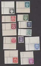 France -Timbres Neufs**Série Armoiries de villes N°553à564 dont coins de feuille