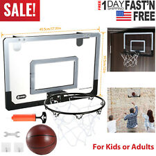Indoor Mini Basketball Hoop Backboard System Home Office Room Hoop w/ Ball &Pump