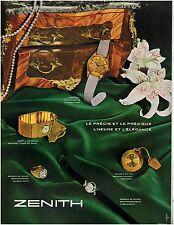 ▬► PUBLICITE ADVERTISING AD Montre Watch ZENITH Photo Roulet 1958