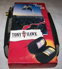 TONY HAWK Signature Series CASE LOGIC Slim-Line CD CASE Holds 20CDs  +Free Ship+
