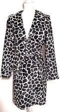 BEBE Faux Fur DALMATION Belted Trench Coat - Small
