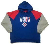 NBA Mitchell & Ness All Star Charlotte Hoodie Sweatshirt Size L 1991