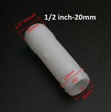 """1x Plastic Male 1/2"""" Thread 200mm Straight Hose Barb Tail Water Air Fitting pipe"""
