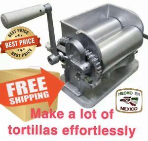 Monarca Manual Aluminum Tortilla Maker - Silver