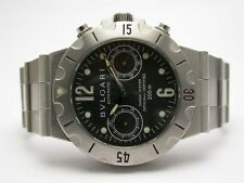 BVLGARI SCUBA CHRONOGRAPH AUTOMATIC STEEL WATCH SCB 38 S R-6,300