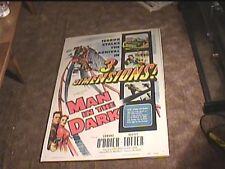 MAN IN THE DARK 3D  1953 ORIG MOVIE POSTER ROLLERCOASTER