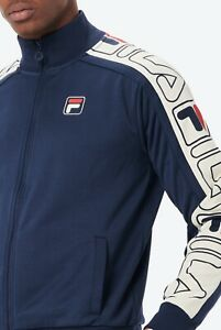 FILA® Vintage GATLIN Striped Sleeves Track Top/Peacoat - Small Sale AW20