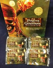 24 Packs of Pirates of the Caribbean Medalionz + Collectors Binder NEW Unopened