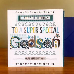 GODSON Birthday Card SPECIAL card for godson