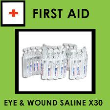 Sodium Chloride Eye and Wound Wash 15ml x30 (Saline)