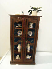 Dollhouse Wooden Display Cabinet Showcase- Miniature Furniture