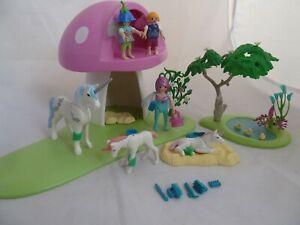 Playmobil 6055 Mushroom Fairies set - figures, accessories, unicorns