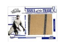 2005 Playoff Absolute Burleigh Grimes jumbo jersey relic card 36/83 Dodgers HOF