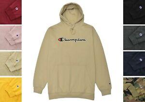Champion Big & Tall Hoodie Fleece Sweatshirt Drawstring Hood Stitched Logo