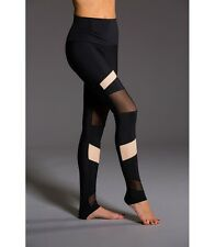 Onzie Hot Yoga High Rise Bondage Legging 280 Black/Nude