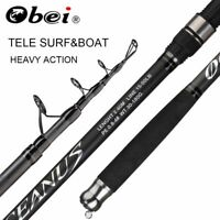 Surf Rod Telescopic Fishing Rod Carp Carbon Fiber Spinning Hand Pole Travel Reel