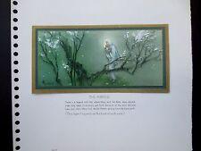 "Disney Artist Tyrus Wong Sample Xmas Greeting Card ""The Miracle"" Extraordinary!!"