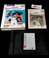 HARD BALL MSX 2 MEGA ROM CARTRIDGE HBS-G060C Japanese Sony Complete