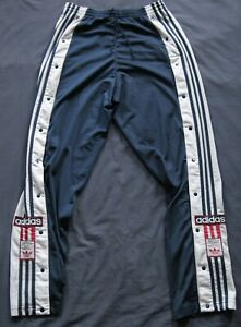 Adidas Adibreak Sporthose Knopfhose Hose Vintage Retro Track Poppers 90er L