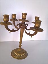 Kerzenständer massiv Messing  Kandellaber  Kerzenleuchter Höhe 24,5 cm, 5 armig