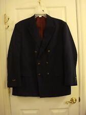 Men's Haband Executive Division Navy Blue Silver Button Blazer Size 44/46 R New