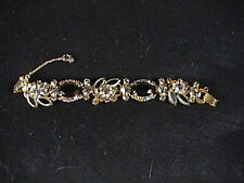 Juliana 5 Link Bracelet Givre Topaz Clear & Black  Rhinestones ,Faux Diamonds