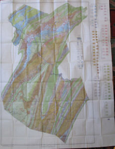 Color Soil Survey Map Huntingdon County Pennsylvania Mount Union Rockhill 1944
