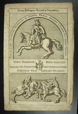 Heinrich der Finkler Vogler  Henricus Auceps Henri Ier de Germanie Saxe c1620