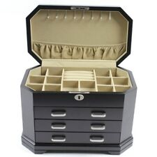 New Black Home Decorators Collection Mariah Jewelry Box Rings Bracelets necklace