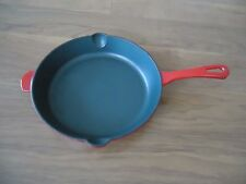 """Cuisinart CI22-24 Enameled Cast Iron 10"""" Round Fry Pan, Red"""