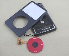 Black Faceplate Back Housing Case Red Clickwheel for iPod 6th Classic 80GB U2