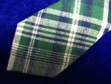 English Laundry JackThreads Roffe Skinny Tie Green Blue Gray Plaid 100% Cotton