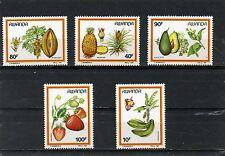 RWANDA 1987 Sc#1287-1291 FLORA FRUIT SET OF 5 STAMPS MNH