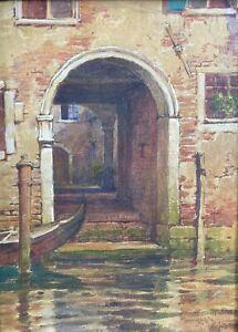 Venetian Doorway, Rhode Island Impressionist H. A. Dyer, c. 1930
